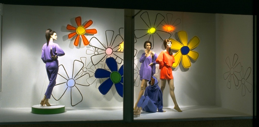 Colorful and Animated - a window display at a major department store - Made from Gator Foam and Fomecore