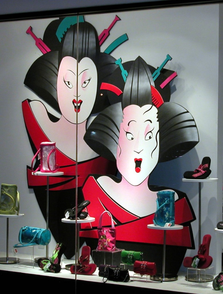 Geisha Inspired - Window Display at a major department store - Made from Gator Foam and Fomecore